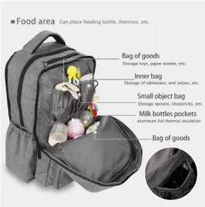 insulated compartment in the diaper bag